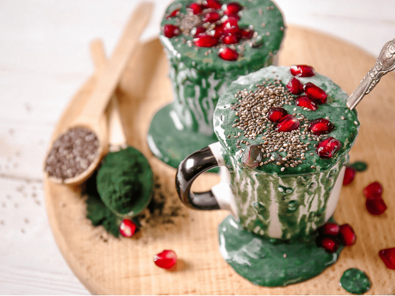 Cooking with cbd Spirulina Smoothie 1