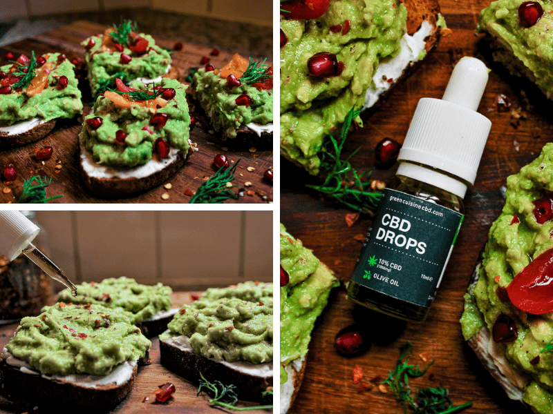 Cooking with cbd advocado toast 1