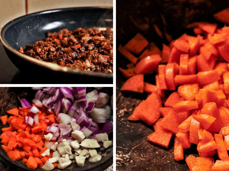 Cooking with cbd vegan stuffed pepper 15