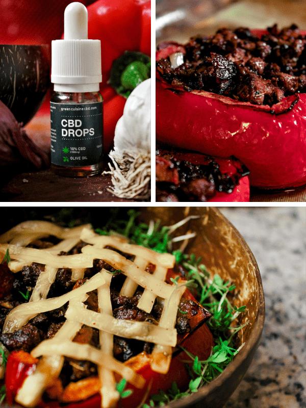 Cooking with cbd vegan stuffed pepper 20