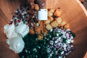 creamy dill cbd potatoes salad